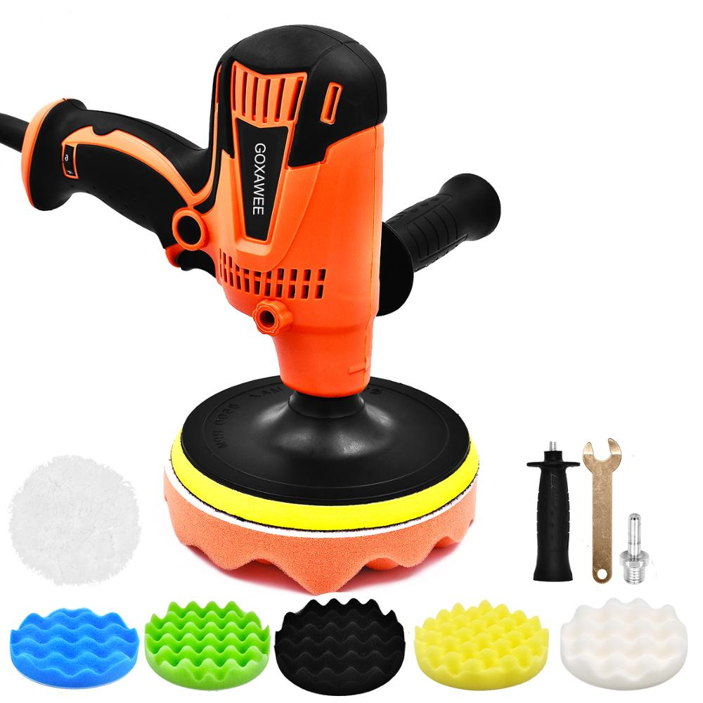 800W Electric Car Polisher Machine Adjustable Speed 3300rpm Auto Polishing Car Waxing Grinding Machine For Paint Care Tools-in Polishers from Tools on
