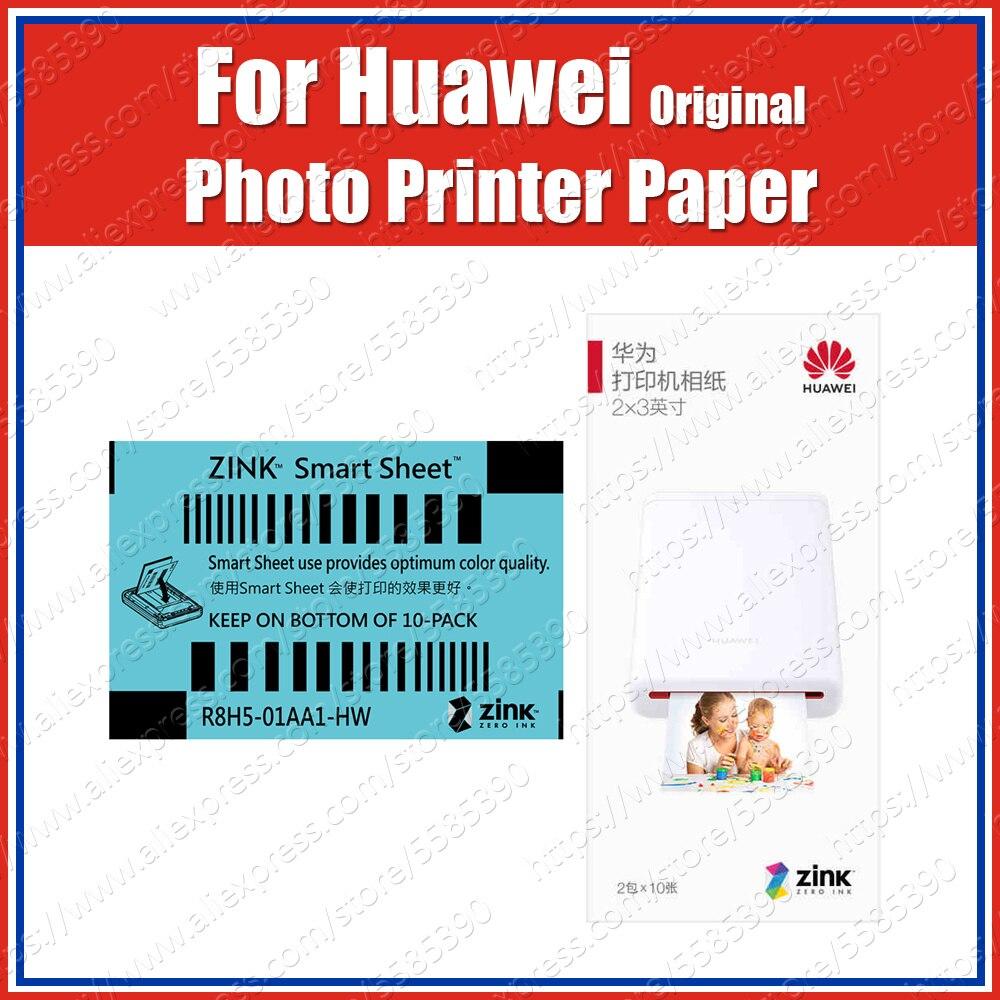 Zink original 2*3 polegadas 50*76mm para o papel da foto da impressora de huawei