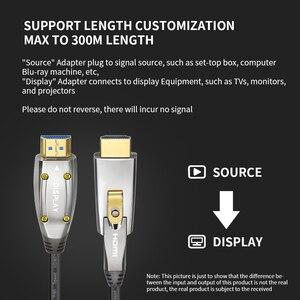 HDMI к оптическому конвертеру волокна HDMI 2,0 кабель 10 м/20 м/30 м/50 м 60 Гц HDMI удлинитель 4K для Hd Tv Lcd ноутбука Ps4 проектор компьютера
