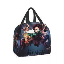 Demon Slayer Easily used as lunch bag, picnic bag, sundry bag or shopping bag Demon Slayerbento lunch bags for women