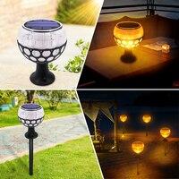 Solar Torch Lights Dancing Flame Lighting 96 LED Flickering Lamp Waterproof Wireless Outdoor Light for Patio Garden Path Yard