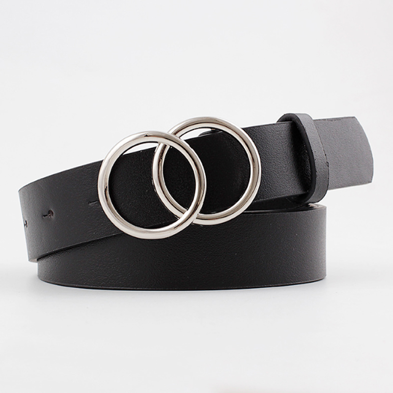 Black Leather Belts For Women Waist Cinturon Mujer Luxury Brand G Ceinture Femme Silver Buckle Waistband Dress Riem 2020 New