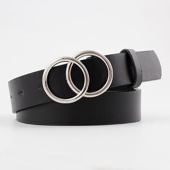 Black Leather Belts For Women Waist Cinturon Mujer Luxury Brand G Ceinture Femme Silver Buckle Waistband Dress Riem 2020 New