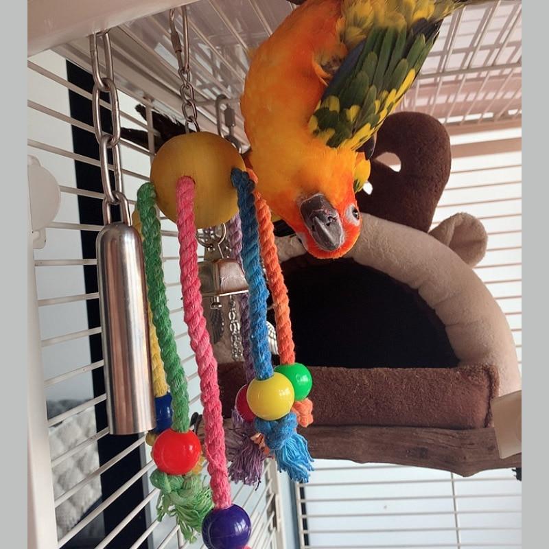 CAITEC Bird Chew Toys Arachnid Parrot Chew Bite Toys Suitable for Small to Large Size Parrots