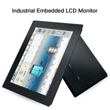 19 21.5 23.6 Inch Industrial Display LCD Screen Monitor For Tablet VGA HDMI USB Resistance Touch Screen Embedded installation b100jc abhuv 10 inch touch monitor 10 inch touch display hdmi hd resistance touch monitor meal industrial medical touch screen