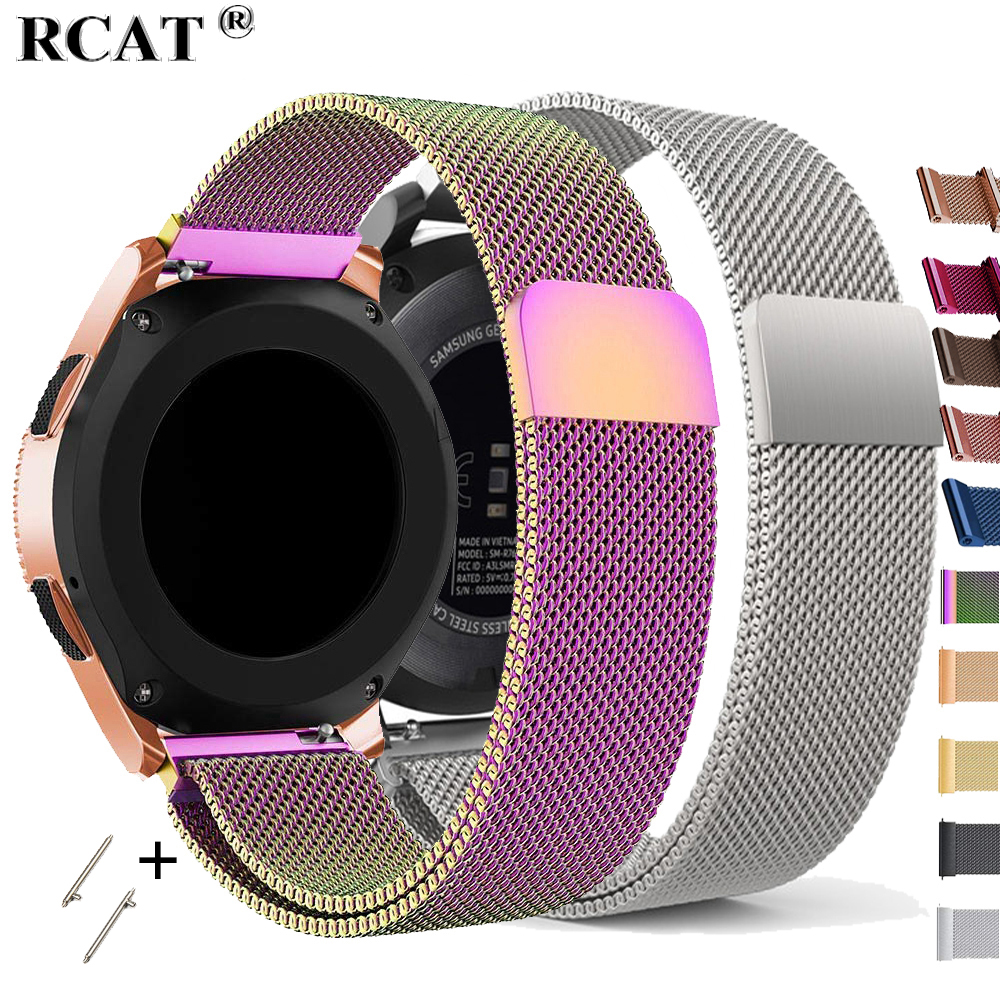 22mm Watch Band For Samsung Galaxy Watch 46mm 42mm Active 2 20 Gear S3 Frontier Strap Milanese Amazfit Huawei Watch GT 2e Strap
