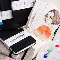 Cuaderno de 24 hojas en blanco para dibujo de acuarela, libro de grafitis para escuela, bocetos, marcadores, suministros de arte