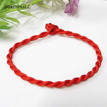 3UMeter Hot Sale 1PC Red Thread String Bracelet Lucky Red Green Handmade Rope Bracelet for Women Men Jewelry Lover Couple(China)