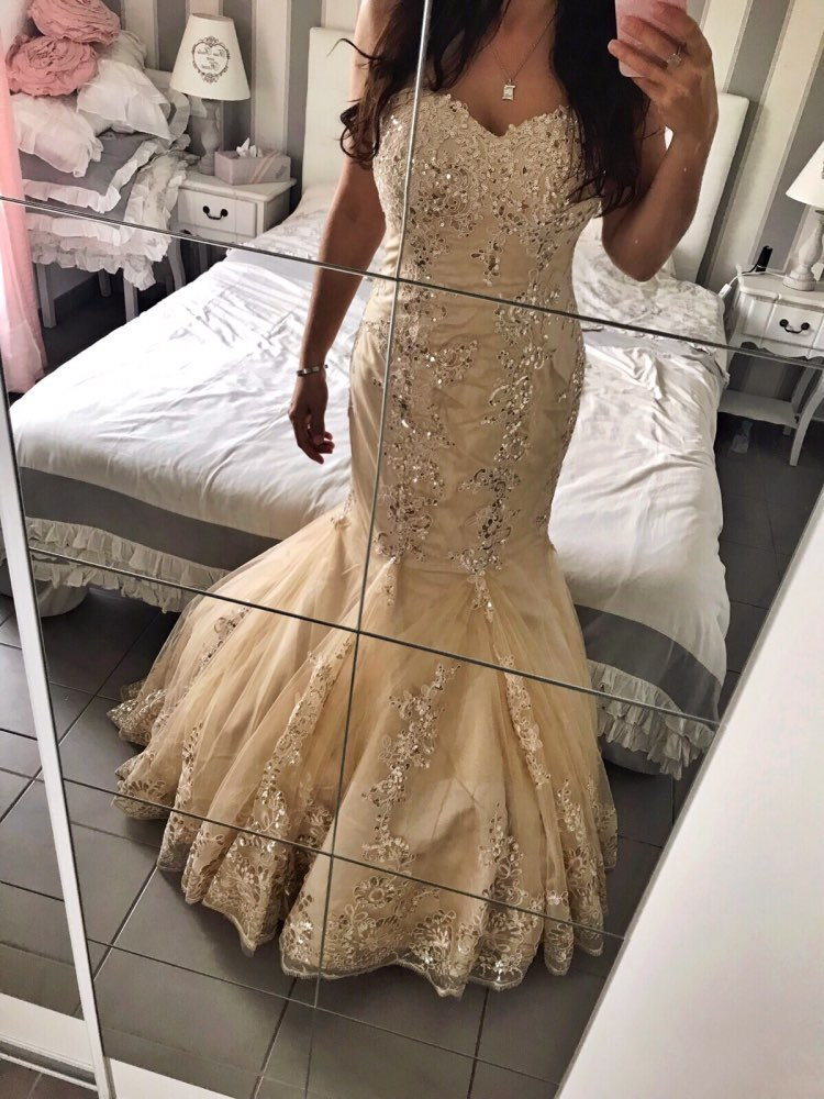 2020 New Mermaid Sweetheart Sleeveless   Evening     Dress   Shinny Sparkle Special Tulle Hem with Beading for Party