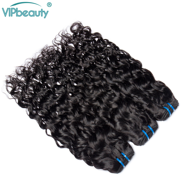 Vip Beauty Brazilian Hair Weave Bundles Water Wave 100% Human Hair 1/2/3/4 Bundles Natural Color Remy Hair Extensions 1