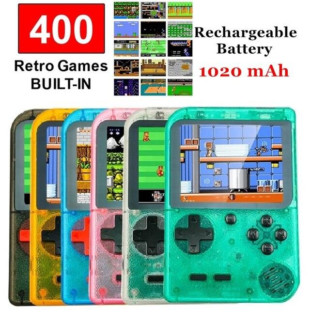 """الرجعية وحدة تحكم بجهاز لعب محمول المحمولة 8 بت 400 في 1 الألعاب الكلاسيكية FC NES وحدة التحكم 3 """"رصد شاشة كبيرة هدايا عيد الميلاد"""