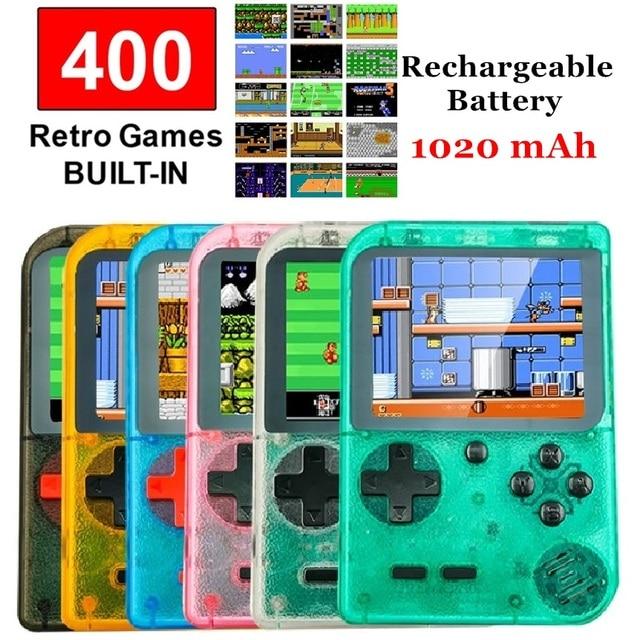 """רטרו כף יד קונסולת משחקים נייד 8 Bit 400 ב 1 קלאסי משחקי FC NES קונסולת 3 """"צג גדול מסך חג המולד מתנות"""