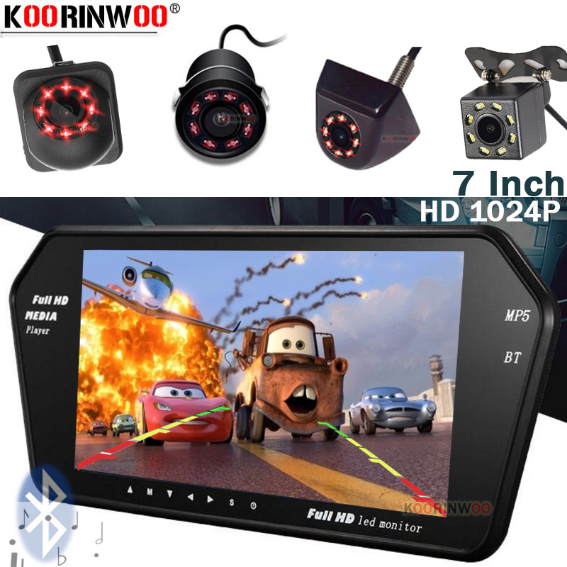 Koorinwoo HD 1024P Für Sony Video System Parkplatz Monitor Spiegel Media Bluetooth USB SD Musik Player Rück Camaera Parkplatz