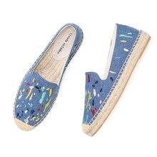 2020 Denim réel nouvelles chaussures 2019 Espadrilles Sapatos Zapatillas Mujer plate forme dame pantoufles pour printemps chaussures plates mode