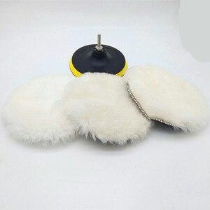 Image 1 - 5/6/7 inç araba sünger parlatma diski kendinden yapışkanlı yün parlatma tekerleği yorgan yün tavşan kürk topu tampon