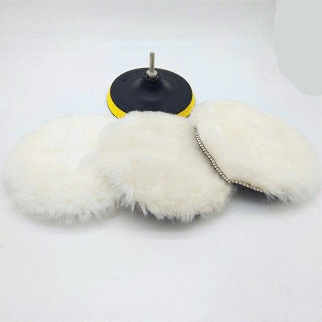 5/6/7 inç araba sünger parlatma diski kendinden yapışkanlı yün parlatma tekerleği yorgan yün tavşan kürk topu tampon