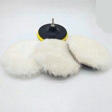 5/6/7 zoll Auto Schwamm Polieren Disc Selbst Adhesive Wolle Polieren Rad Duvet Wolle Kaninchen Fell Ball Pad