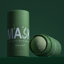 No Irritation Green Tea Cleansing Solid Mask Purifying Clay Stick Oil Control Anti-Skin Care Whitening Care Face