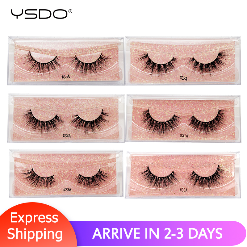 YSDO 3d Mink Lashes Eyelash Extension Cross Lashes Natural Long False Eyelashes Lashes Maquillaje Cruel-free Mink Eyelashes #3A
