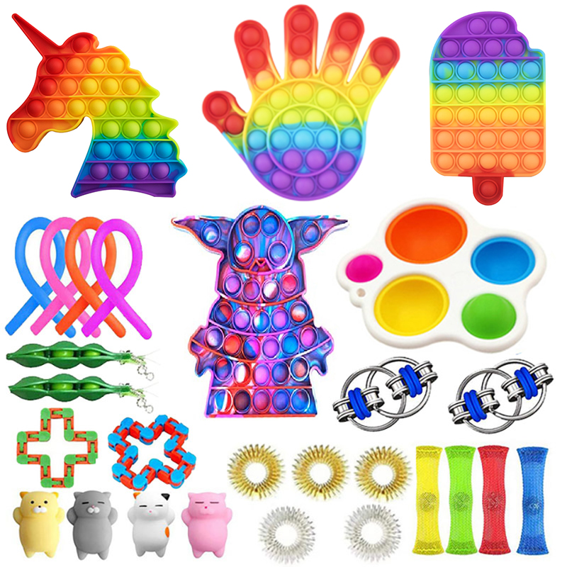 Fidget Toys Sensory  Anti Stress Toy Set Figet Antistress Relief Autism Anxiety Bubble for Kids Adults