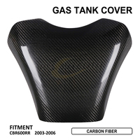 Black Carbon Fiber Oil Fuel Gas Tank Cover Guard Protection For HONDA CBR600RR 2003 2006 2004 2005 Motorcycle