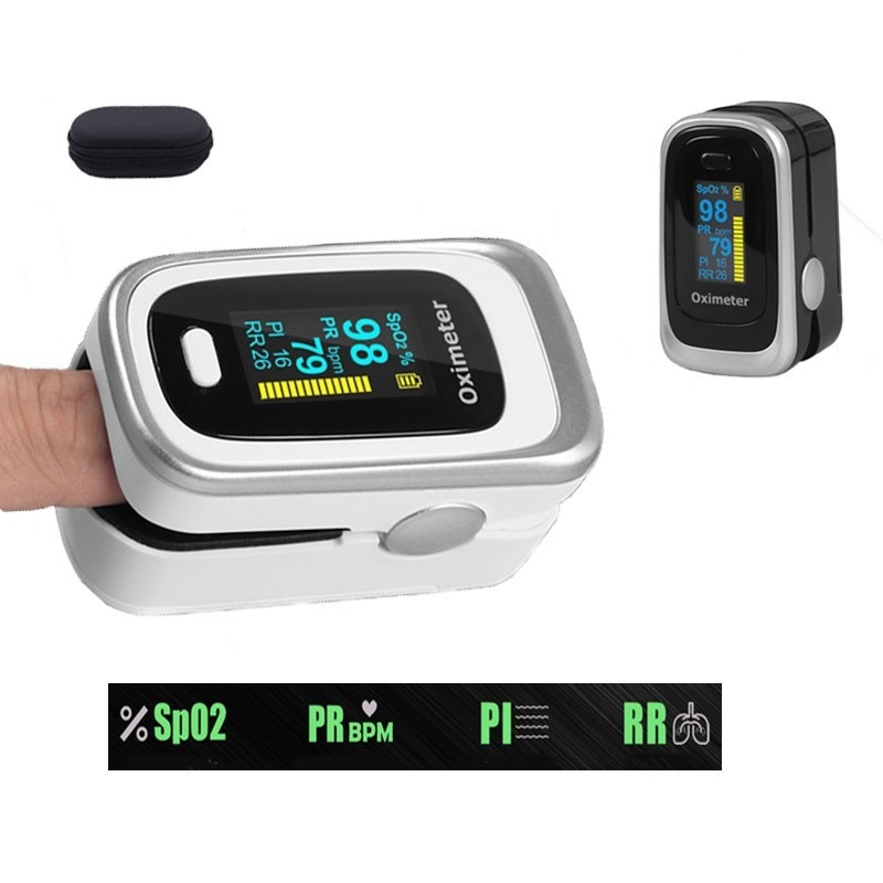 Finger Pulse Fingertip Oled  SPO2 PR PI RR Blood Oxygen With Airways Rate  De Pulsioximetro Dedo