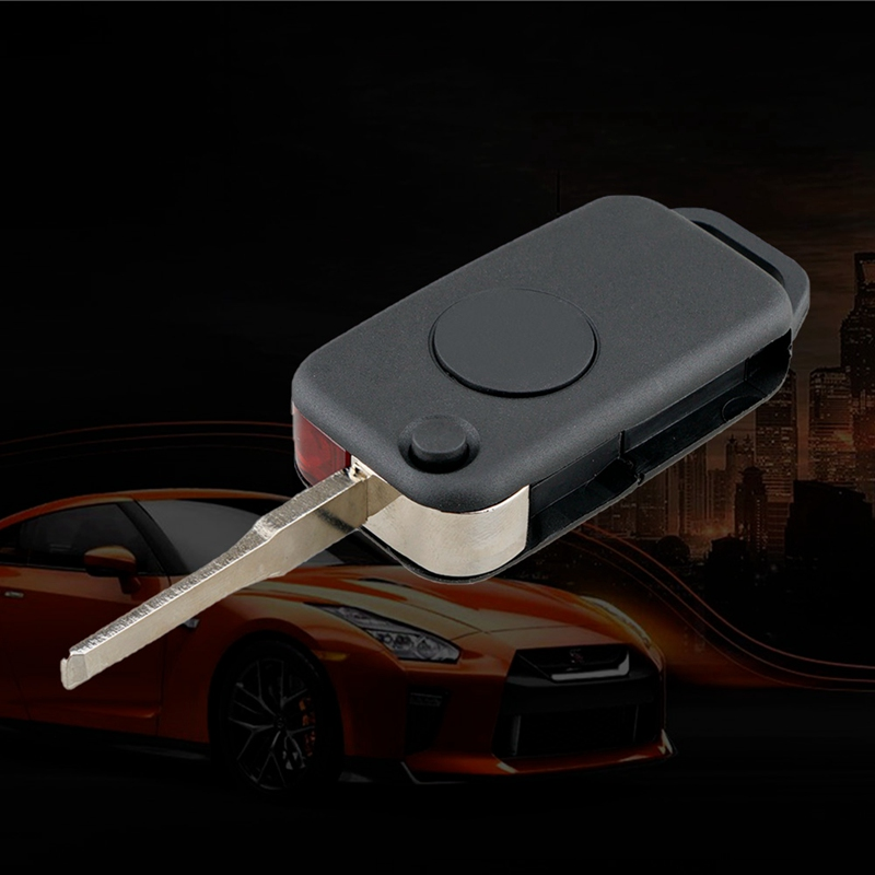 For Benz <font><b>Key</b></font> Shell Flip Folding <font><b>Remote</b></font> Car <font><b>Keys</b></font> Case Fob Replacement Cover For Mercedes W168 <font><b>W124</b></font> W202 W210 W211 W203 image