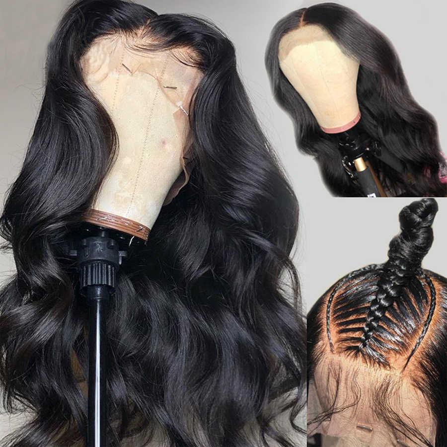 360 koronkowa peruka z przodu peruki z ludzkich włosów 360 koronkowa peruka z przodu wstępnie oskubane z dzieckiem włosy ciało fala brązowa peruka Dorisy włosy inne niż Remy