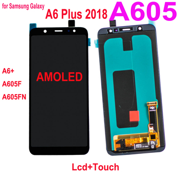 Original Super Amoled for Samsung Galaxy A6+ A6 Plus A605 LCD Display Touch Screen Digitizer Assembly For Samsung A605F A605FN