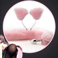 Fox-Juego de tapón de cola de Metal con horquilla, 4 colores, masajeador de próstata, Anal, para parejas, Cosplay