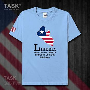 Liberia Liberian LBR Monrovia mens new t shirt Fashion tops Short Sleeve sports clothes national team summer cotton t-shirt 50 image