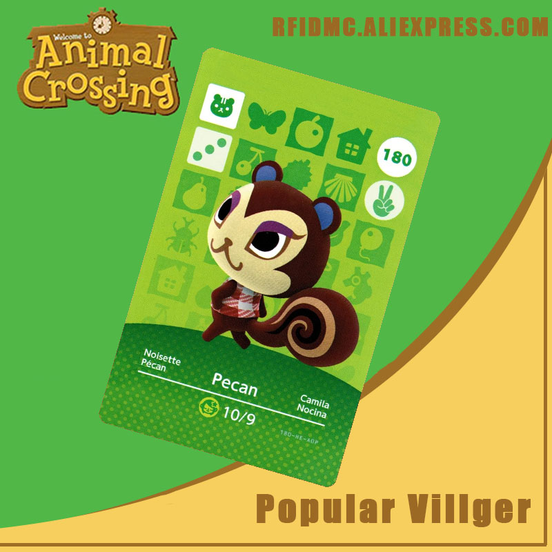 180 Pecan Animal Crossing Card Amiibo For New Horizons