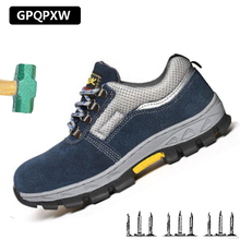 Safety Shoes Outdoor Anti-smashing Puncture Labor Insurance Shoes Site Light Breathable Casual Sports Slip Wear Men's Shoes