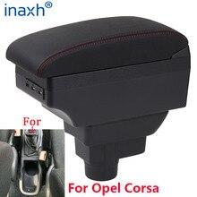 Caja de reposabrazos para Opel Corsa D, reposabrazos interior para coche Opel Corsa, accesorios de piezas de reacondicionamiento