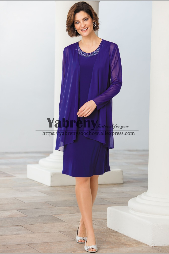 Knee-Length Mother Of The Bride Dresses With Jacket