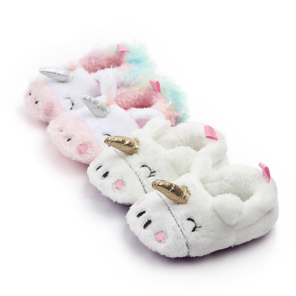 2019 Brand New Toddler Newborn Unicorn Baby Crawling Shoes Boy Girl Lamb Slippers Prewalker Trainers Fur Winter First Walkers