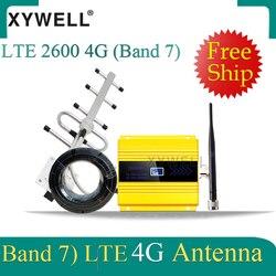 Grande venda!! Fdd lte 2600mhz band7 gsm sinal móvel impulsionador 4g celular amplificador 4g lte 2600 rede 4g repetidor de sinal dados