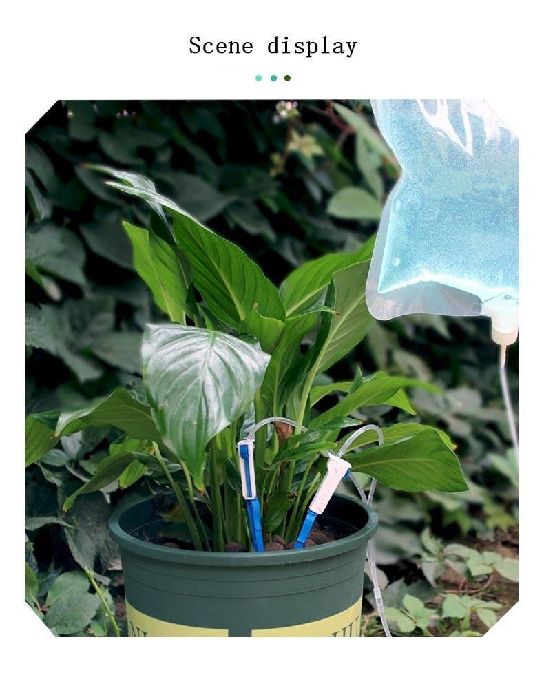 Автоматическая капельная установка полив цветов мешок стрелка ленивая посадка удобрения горшок орошения системы садовые водные инструменты