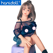Hanidoll Silicone Sex Dolls 100cm Mini Japanese Love Doll Full Sized Realistic Vagina Breast doll Metal Skeleton