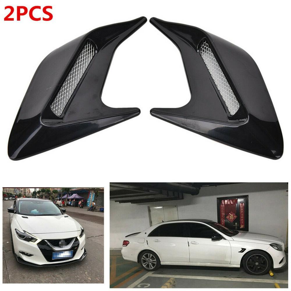 Автомобильные декоративные наклейки на боковое вентиляционное отверстие, поток воздуха, крыло, наклейки, наклейка, имитация боковых отверс...