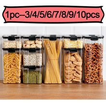 Airtight Food Storage Sealed Bulk Food Container Storage Tank Square Kitchen Household Moisture Proof Snacks Cereals Nut Box