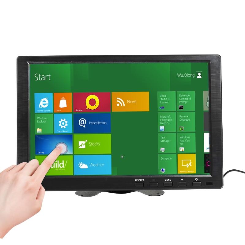 Сенсорный экран 10,1 дюйма, IPS HDMI, 1280x800 СВЕТОДИОДНЫЙ монитор для PS3 4, Windows 7, 8, 10, VGA/AV, USB компьютер, светодиодный дисплей для автомобиля