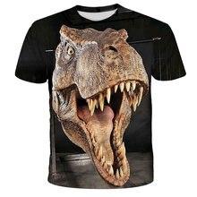 Xinyou 2021 verão t-shirts topos dinossauro parque curto congelado roupas das crianças designer impresso t camisa 3d meninos do miúdo camiseta