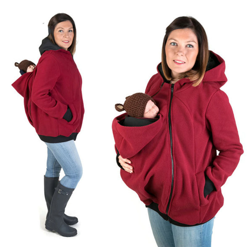 Baby Carrier Jacket Kangaroo Hoodie Winter Maternity Hoody Outerwear Coat For Pregnant Women Carry Baby Pregnancy Clothes