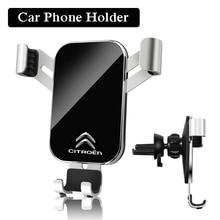 1Pcs ABS PMMA Car Air Vent Stand Car Phone Gravity Bracket Accessories For Citroen Vts C1 C3 C4 C5 C6 Xsara Berlingo Celysee