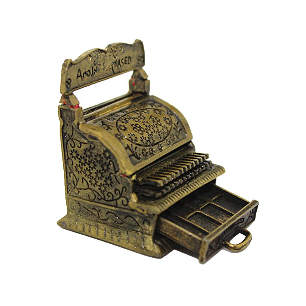 Vintage Miniature Carving Cash Register Open Draw Collection For Doll Home Decoration 1/12 Dollhouse Furniture Accessories