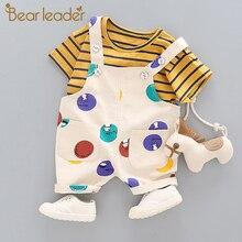 Bear Leader Kids Clothing Sets 2020 Fashion Style Baby Clothing Sets Long Sleeve Patchwork T shirt