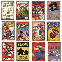 Caution Video Games Angry Games Decor Metal Poster Vintage Tin Sign Gaming Plaque