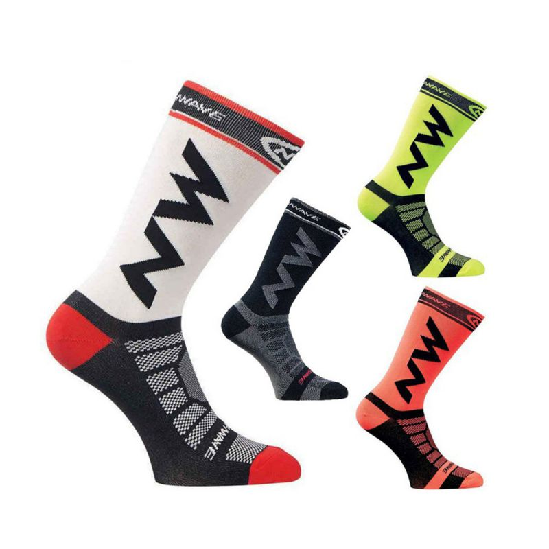 Compression Anti-slip Cycling Socks Outdoor Knee-High Running Socks Breathable Thermal Elastic Sports Stocks