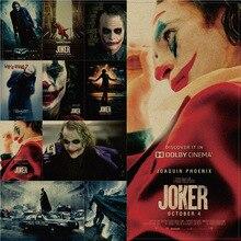 El Joker DC película Batman superhéroe cartel de payaso Vintage 51X36cm Kraft pegatinas para la pared de papel pintura decorativa del hogar